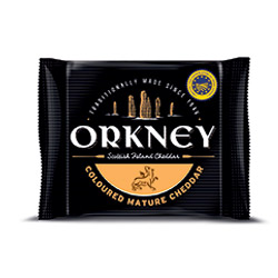 Orkney Coloured Mature Cheddar Front