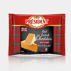 President British Cheddar 1 Grey
