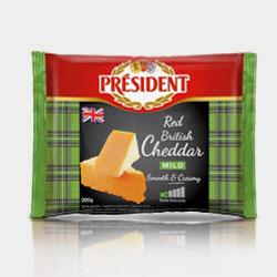President British Cheddar Mild 1 Grey